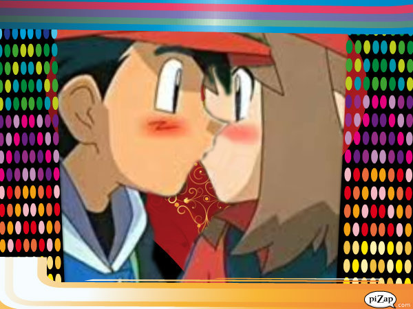 Ash and May - kiss