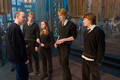 BTS: David Yates, Rupert Grint, James Phelps, Oliver Phelps, and Bonnie Wright