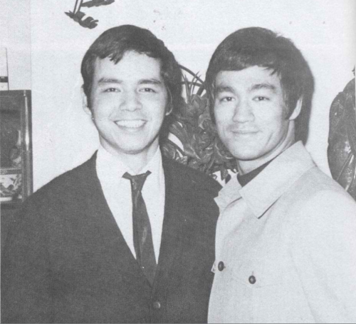 Bruce with Peter Lee