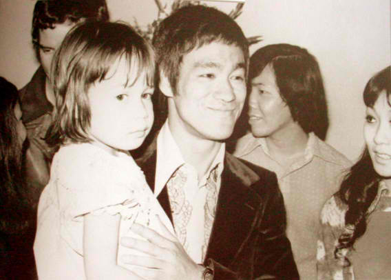 Bruce Lee images Bruce with his daughter wallpaper photos ...