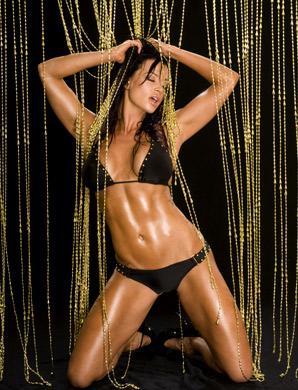 Candice Michelle پیپر وال containing a bikini titled Candice Michelle Photoshoot Flashback