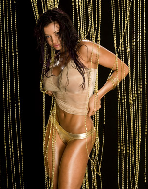 Candice Michelle Hintergrund possibly with a bikini titled Candice Michelle Photoshoot Flashback