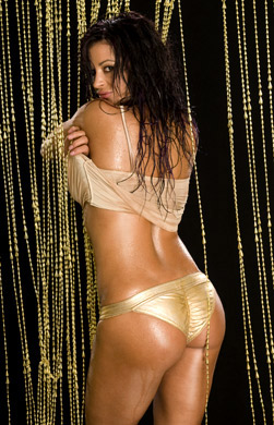 Candice Michelle achtergrond containing a bikini called Candice Michelle Photoshoot Flashback