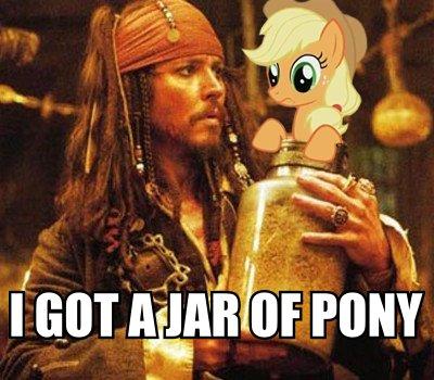 Captain Jack meets a pónei, pônei