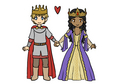 Chibi King and Queen - arthur-and-gwen photo