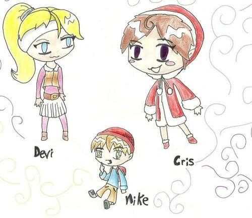 Cris, Devi, and Nike