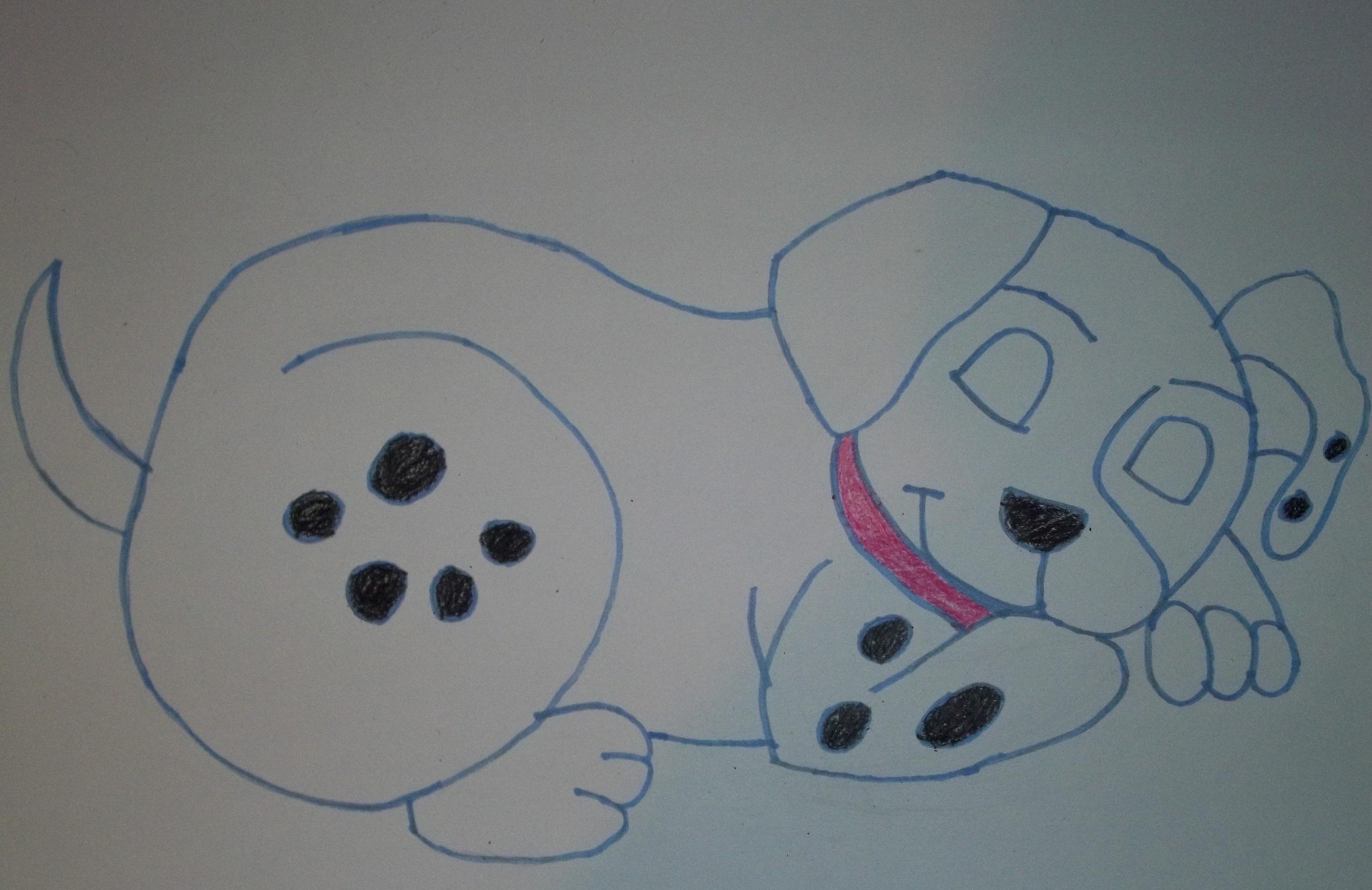 Dalmatian cún yêu, con chó con