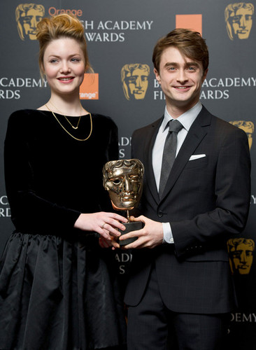 Daniel Radcliffe attend the nomination announcement for The Orange BAFTA