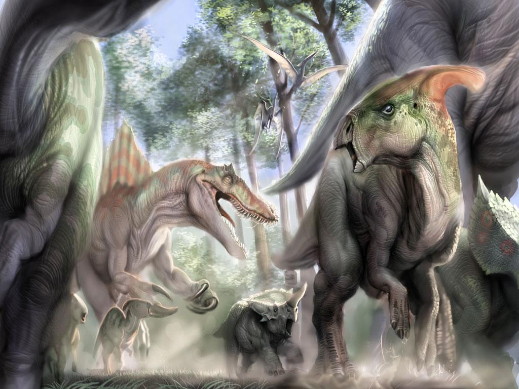 dinosaurs wallpapers triassic - إرتفاع درجة الحرارة يعيد الحياة للديناصورات على كوكب الأرض