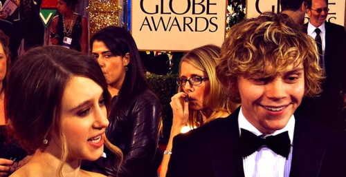 Evan and Taissa at the Golden Globes 2012