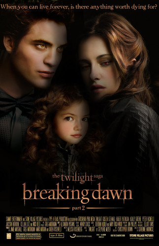 Fan made bd part 2 poster - twilight-cast-and-characters Fan Art