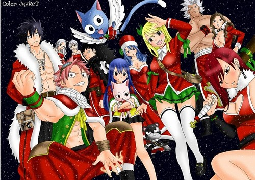 fairy tail fondo de pantalla containing anime titled Fiore navidad