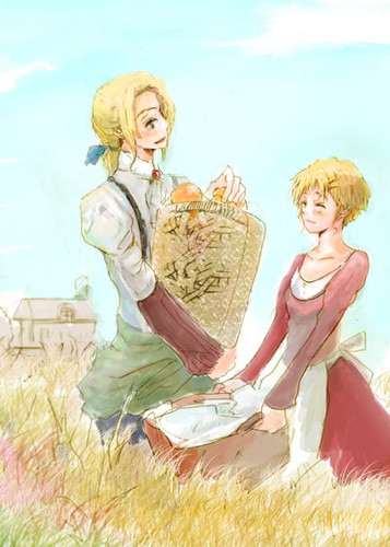 Hetalia wallpaper called France x Jeanne D'Arc