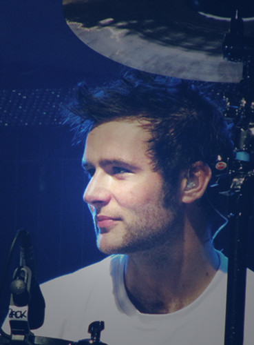 McFly wallpaper probably with a concert and a drummer titled Harry Judd <3