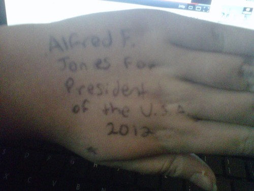 I seriously wrote that. On my own hand. .-.