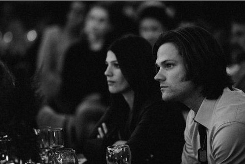 Jared Padalecki & Genevieve Cortese wallpaper possibly with a business suit titled Jared and Genevieve