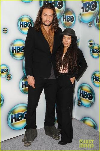 Jason Momoa & Lisa Bonet: HBO's Golden Globes After Party!