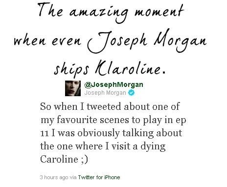 Joseph Morgan habla sobre Klaus enamorado y Stefan