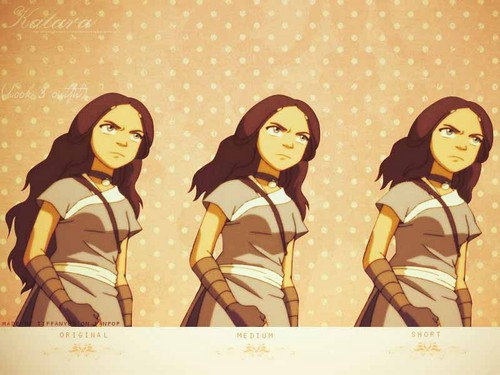 Katara with different hair styles
