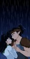 Koga and Kagome in the rain