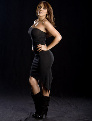 WWE 레일라 바탕화면 possibly containing a bustier, a leotard, and tights titled Layla Photoshoot Flashback