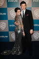 Lea and Cory at the Golden Globes  - finn-and-rachel photo