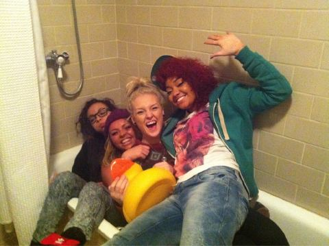 Little Mix fond d'écran with a bathtub, a hot tub, and a bathroom entitled Little Mix. <3