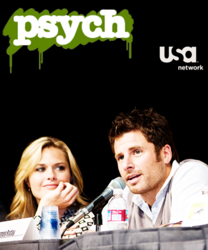 Look at how she looks at him! :3 - psych Fan Art
