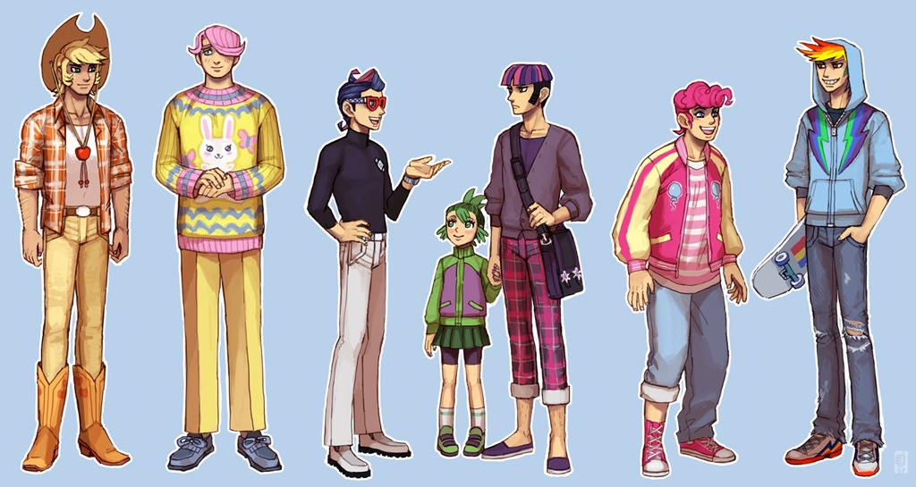 MLP FiM human male version