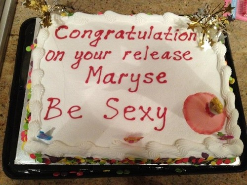 "Maryse's ""Release Party"" Cake"