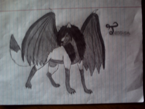 Me as a Demon serigala with wings