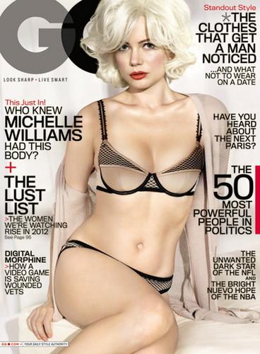 Michelle Williams - 'GQ' February 2012 / Cover