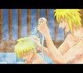 Minato & Naruto >////<