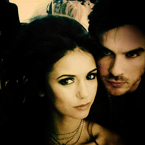 Ian Somerhalder and Nina Dobrev wallpaper with a portrait called Nian <3