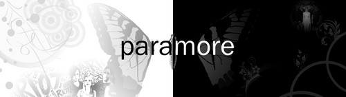 Paramore wolpeyper titled Paramore 2 tone 3840x1080