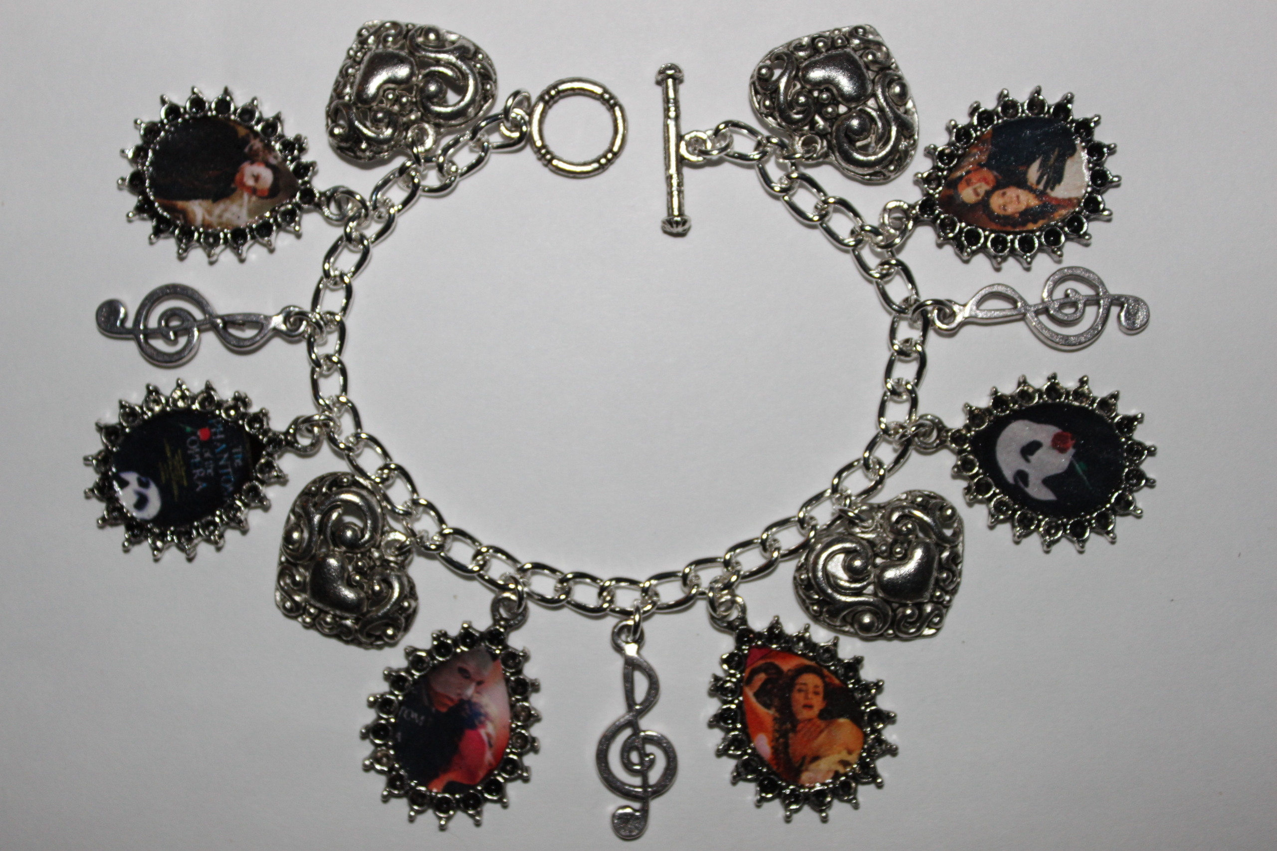 Phantom of the Opera Charm Bracelet