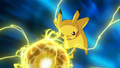 pikachu uses his new Attack,Electro Ball!!!
