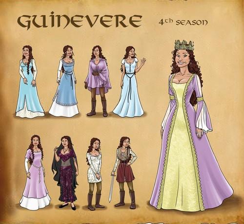 Queen Guinevere Pendragon - Fashion Plate S4