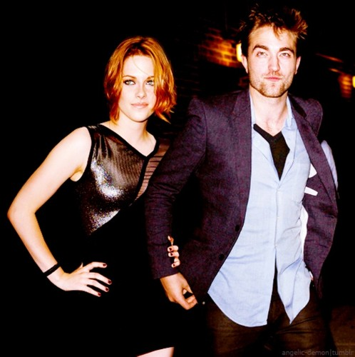 Robert Pattinson & Kristen Stewart wallpaper with a business suit, a suit, and a well dressed person titled R/K manips