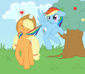 রামধনু Dash x AppleJack