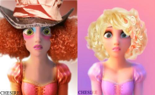 Rapunzel as Mad Hatter & Lady Gaga