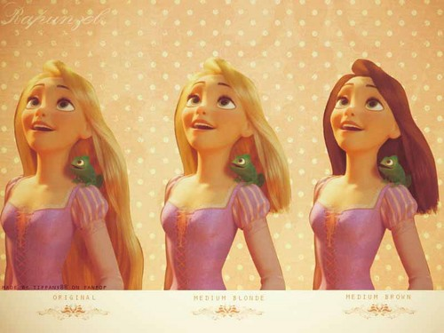 Rapunzel with different hair styles