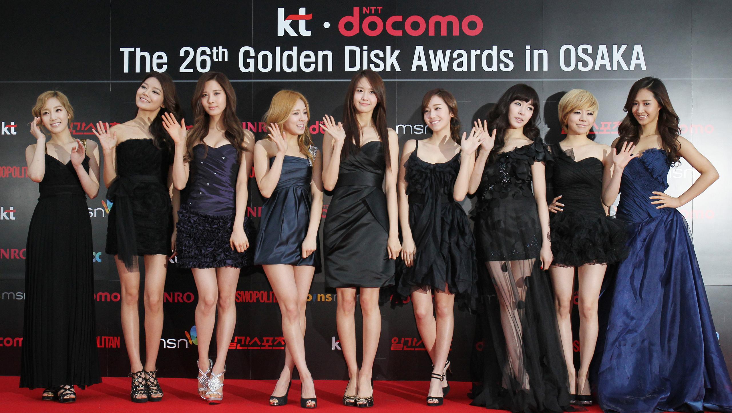 SNSD @ Golden Disk Award Red Carpet