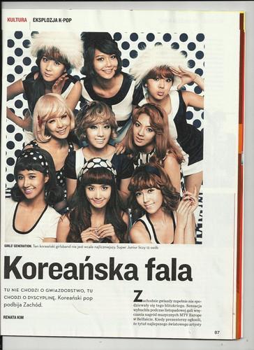 SNSD @ Polish Magazine Scans  - Kpop Wave