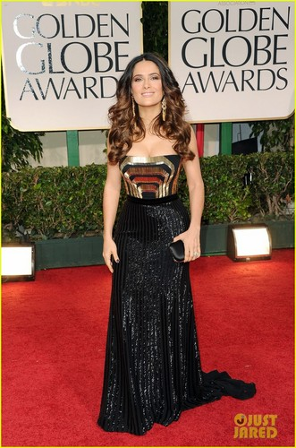 Salma Hayek - Golden Globes 2012 Red Carpet