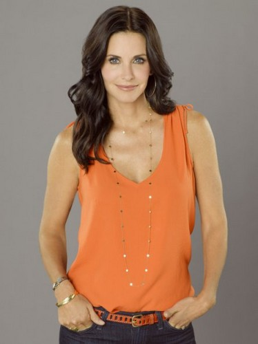 Cougar Town wallpaper possibly containing a playsuit, a top, and a blouse titled Season 3 - Cast Promotional Photos - Courteney Cox