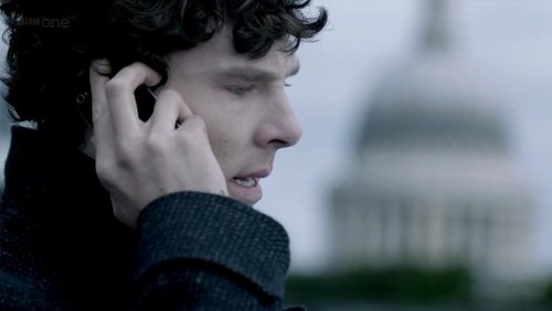 Sherlock in der BBC Hintergrund called Sherlock S02E03 The Reichenbach Fall
