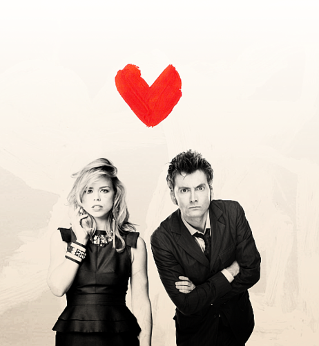 The Doctor and Rose wallpaper probably with a business suit and a well dressed person entitled Ten&Rose<3