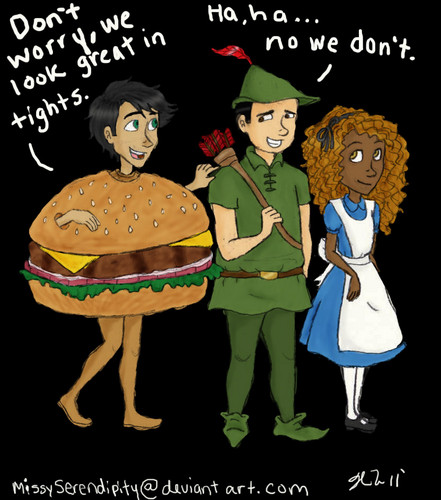 Tights and Hamburgers - the-heroes-of-olympus Fan Art