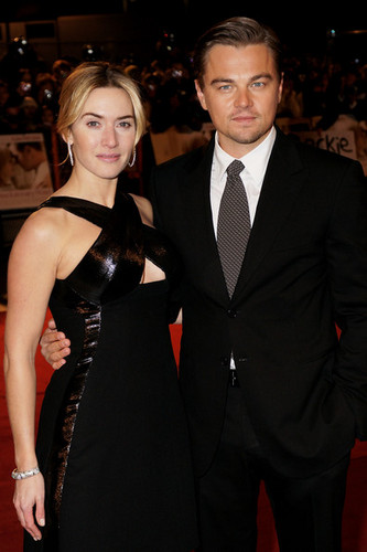 Kate Winslet and Leonardo DiCaprio wallpaper with a business suit and a suit titled UK Film Premiere: Revolutionary Road